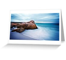 Water Swirl, Bay of Fires, Tasmania Greeting Card