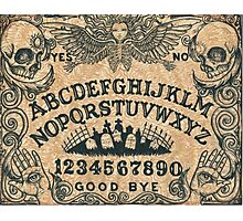 Angel of Death Ouija Board Photographic Print