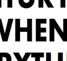 Torchwood 21st CENTURY Sticker
