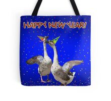 HAPPY NEW YEAR - Celebrating Geese Tote Bag
