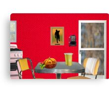 Beginning of The Day (Tribute To Wesselmann)  Canvas Print