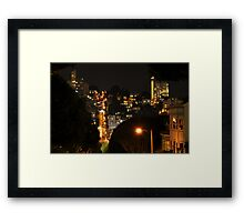 Lombard at Night Framed Print