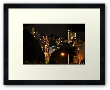 Lombard at Night by Bob Moore