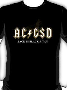 AC/GSD Back in Black & Tan T-Shirt