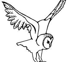 Barn Owl in Flight by AnimalDreaming