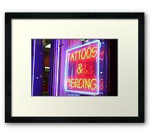 TATTOOS & PIERCING Framed Print