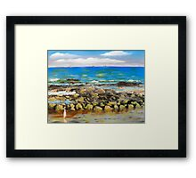 Corrimal Beach near Towradgi Pool Framed Print