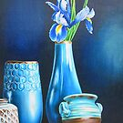 Blue Still life with Iris by lanadi