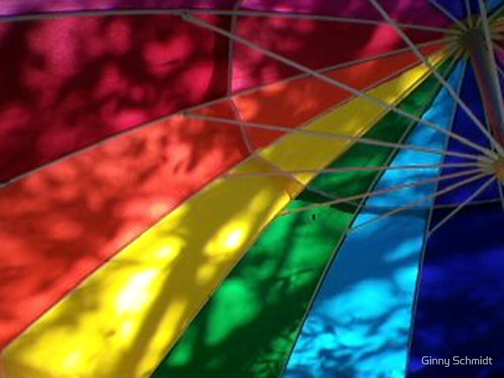 beach umbrella by Ginny Schmidt