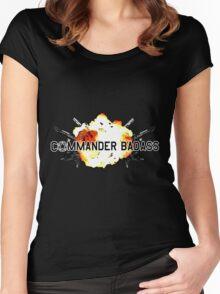 Commander Badass Logo Women's Fitted Scoop T-Shirt