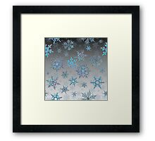 Embroidered Snowflakes on light Framed Print