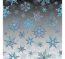 Embroidered Snowflakes on light Photographic Print