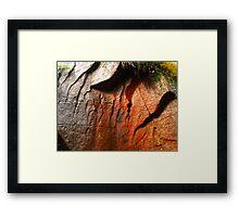 Colored rock Framed Print
