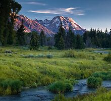 Teton Stream in the Morning by andrewsound95