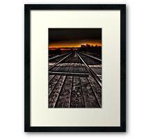 Tracks at Sunset Framed Print