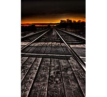 Tracks at Sunset Photographic Print