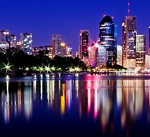 Before the Dawn - Brisbane City Australia by Beth  Wode