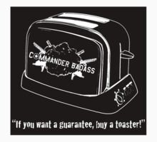 Commander Badass Toaster - Sticker by boomshadow