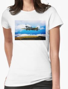 Spitfire Mk XVI TE311 Womens Fitted T-Shirt