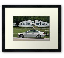 Small World I found a White E46 BMW with a white house! Framed Print