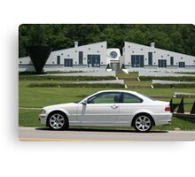 Small World I found a White E46 BMW with a white house! Canvas Print