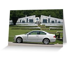 Small World I found a White E46 BMW with a white house! Greeting Card