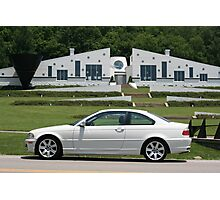 Small World I found a White E46 BMW with a white house! Photographic Print
