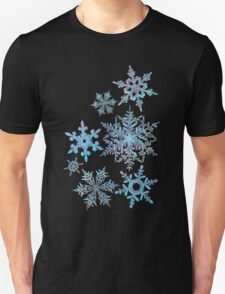 Embroidered Snowflakes on light Unisex T-Shirt