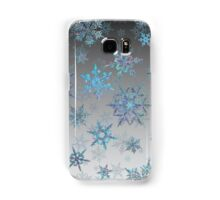 Embroidered Snowflakes on light Samsung Galaxy Case/Skin