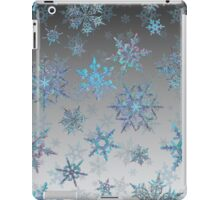 Embroidered Snowflakes on light iPad Case/Skin