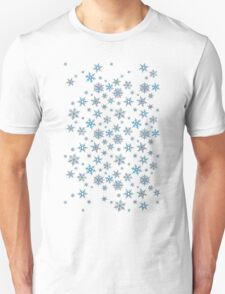 Embroidered Snowflakes on dark T-Shirt
