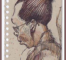• Portreit on the train 1 by boris reyt