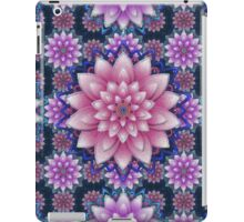 Embroidered pink&purple iPad Case/Skin