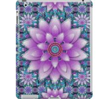Embroidered purple&green iPad Case/Skin