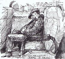 Portreit on the train 3 by boris reyt