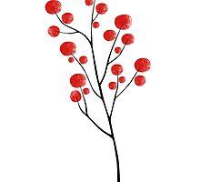 Red berries III by Egle Plytnikaite
