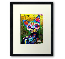 Sugar Skull Kitty Framed Print