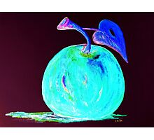 Abstract Blue And Teal Apple Photographic Print