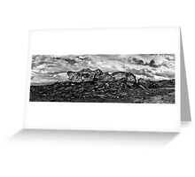 Broome Pano in B&W Greeting Card