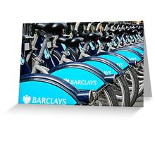 Boris Bike Blues Greeting Card