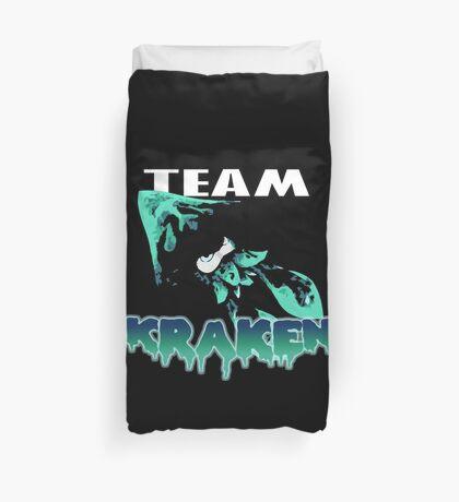 Team KRAKEN (Cyan) Duvet Cover