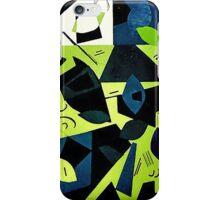 Monochrome Modern Art: Green iPhone Case/Skin