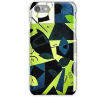 Monochrome Modern Art: Green iPhone Case/Skin