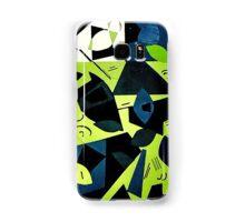Monochrome Modern Art: Green Samsung Galaxy Case/Skin