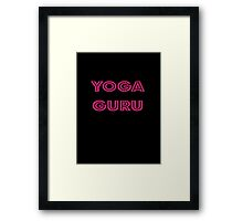 Yoga Guru Cool T-Shirt Sticker Framed Print