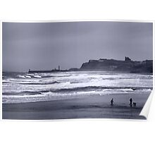 Whitby in Winter Poster