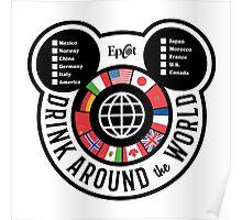 Drink Around the World - EPCOT Checklist v2 Poster