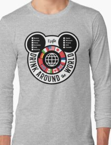 Drink Around the World - EPCOT Checklist v2 Long Sleeve T-Shirt