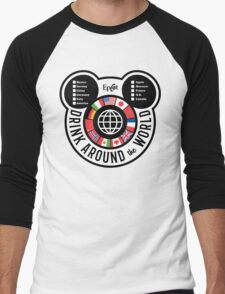 Drink Around the World - EPCOT Checklist v2 Men's Baseball ¾ T-Shirt