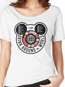 Drink Around the World - EPCOT Checklist v2 Women's Relaxed Fit T-Shirt